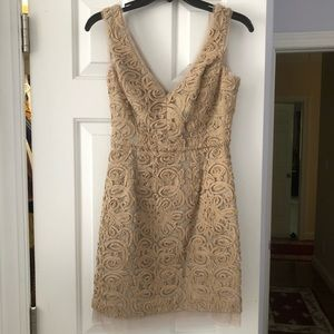 BCBGMaxAzria Tan Fitted Dress